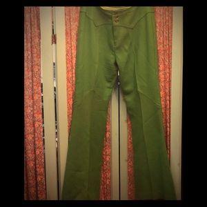 Vintage GROOVY baby...70's flared wool pants